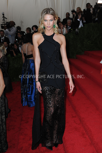 WWW.ACEPIXS.COM<br /> May 4, 2015...New York City<br /> <br /> Karlie Kloss attending the Costume Institute Benefit Gala  celebrating the opening of China: Through the Looking Glass at The Metropolitan Museum of Art on May 4, 2015 in New York City.<br /> <br /> Please byline: Kristin Callahan<br /> ACEPIXS.COM<br /> Tel# 646 769 0430<br /> e-mail: info@acepixs.com<br /> web: http://www.acepixs.com