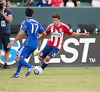 CARSON, CA – SEPTEMBER 19: Chivas USA midfielder Sal Zizzo (15) during a soccer match at Home Depot Center, September 19, 2010 in Carson California. Final score Chivas USA 0, Kansas City Wizards 2.
