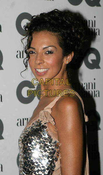 TERRI SEYMORE.The 8th Anual GQ Men of The Year Awards,.The Royal Opera House,.London, 6th September 2005.portrait headshot silver sequin dress cream straps.www.capitalpictures.com.sales@capitalpictures.com.© Capital Pictures.