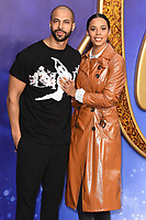 """Rochelle and Marvin Humes<br /> arriving for the """"Aladdin"""" premiere at the Odeon Luxe, Leicester Square, London<br /> <br /> ©Ash Knotek  D3500  09/05/2019"""