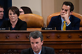 United States Representative Matt Gaetz (Republican of Florida), upper right,, and US Representative Martha Roby (Republican of Alabama), upper left,attend a US House Judiciary Committee hearing on the impeachment of US President Donald Trump on Capitol Hill in Washington, DC, December 4, 2019.<br /> Credit: Saul Loeb / Pool via CNP