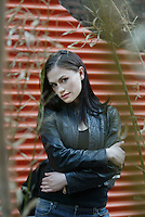 ANNA PAQUIN travels between the worlds of screen and stage, currently playing a troubled young woman in Neil LaBute's off-Broadway play, THE DISTANCE FROM HERE.  W. 27 St., NYC.  Newsday/ARI MINTZ  4/29/2004.