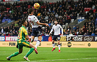 Bolton Wanderers' Gary O'Neil heads at goal<br /> <br /> Photographer Andrew Kearns/CameraSport<br /> <br /> The EFL Sky Bet Championship - Bolton Wanderers v West Bromwich Albion - Monday 21st January 2019 - University of Bolton Stadium - Bolton<br /> <br /> World Copyright © 2019 CameraSport. All rights reserved. 43 Linden Ave. Countesthorpe. Leicester. England. LE8 5PG - Tel: +44 (0) 116 277 4147 - admin@camerasport.com - www.camerasport.com