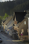 Early morning light on homes in the Black forest. Tennenbron,Schramberg, Wurttemburg, Germany.