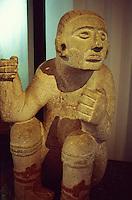 Mayan sculpture in  the Museo Regional de Antropologia, Merida, Yucatan, Mexico