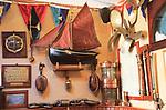 Marine sailing shipbuilding memorabilia in Bushe's Bar pub, Baltimore, County Cork, Ireland, irish Republic