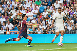 Real Madrid's player XXX and Eibar FC's player XXX during a match of La Liga Santander at Santiago Bernabeu Stadium in Madrid. October 02, Spain. 2016. (ALTERPHOTOS/BorjaB.Hojas)