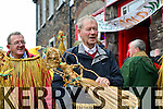 Micheal Ó Muircheartaigh joining the Green And Gold on Wren's Day in Dingle.