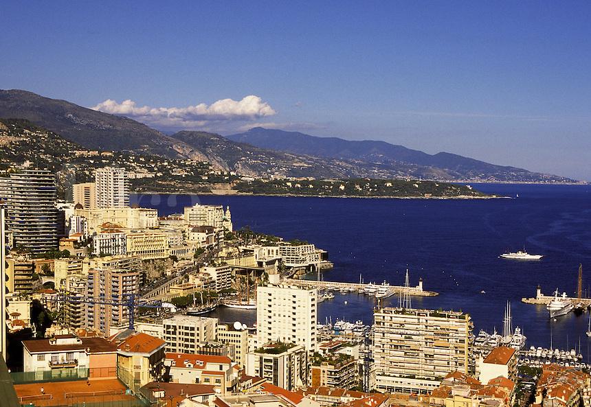 Monte Carlo city and the Condamine. Monaco.