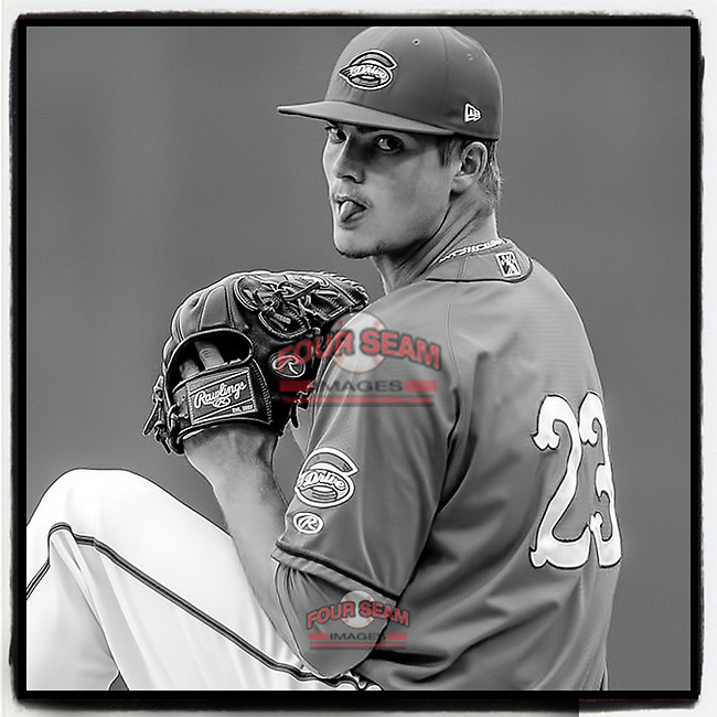 South Carolina native and former @GreenvilleDrive pitcher Jamie Callahan has been signed to a Minor League deal by the San Francisco Giants. Here Callahan pitches in a game on August 1, 2014, at Fluor Field in Greenville, S.C. (Tom Priddy/Four Seam Images) #MiLB