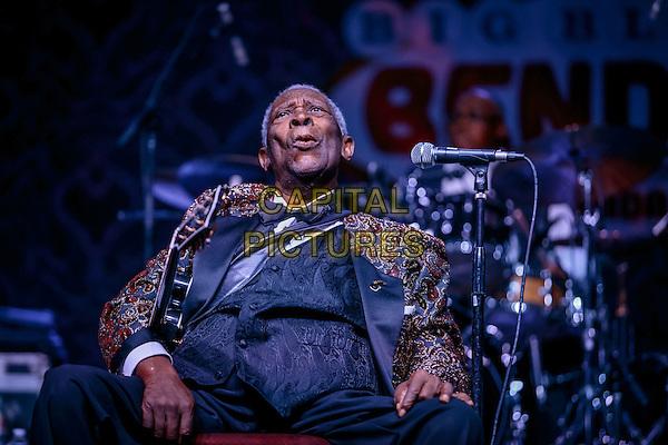 LAS VEGAS, NV - September 26: B.B. King performing at Big Blues Bender at The Riviera Hotel &amp; Casino in Las Vegas, NV on September 26, 2014.  <br /> CAP/MPI/RTNKabik<br /> &copy;RTNKabik/MediaPunch/Capital Pictures
