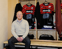 20130216 Copyright onEdition 2013©.Free for editorial use image, please credit: onEdition..The Allianz competition winner in the players' changing room before the Premiership Rugby match between Saracens and Exeter Chiefs at Allianz Park on Saturday 16th February 2013 (Photo by Rob Munro)..For press contacts contact: Sam Feasey at brandRapport on M: +44 (0)7717 757114 E: SFeasey@brand-rapport.com..If you require a higher resolution image or you have any other onEdition photographic enquiries, please contact onEdition on 0845 900 2 900 or email info@onEdition.com.This image is copyright onEdition 2013©..This image has been supplied by onEdition and must be credited onEdition. The author is asserting his full Moral rights in relation to the publication of this image. Rights for onward transmission of any image or file is not granted or implied. Changing or deleting Copyright information is illegal as specified in the Copyright, Design and Patents Act 1988. If you are in any way unsure of your right to publish this image please contact onEdition on 0845 900 2 900 or email info@onEdition.com