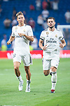 Real Madrid Marcos Llorente and Nacho Fernandez during Santiago Bernabeu Trophy match at Santiago Bernabeu Stadium in Madrid, Spain. August 11, 2018. (ALTERPHOTOS/Borja B.Hojas)