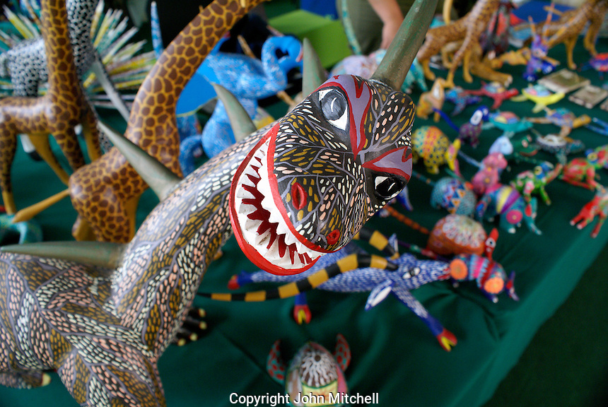 Alebrije dragon, wooden carving from the state of Oaxaca, Mexico