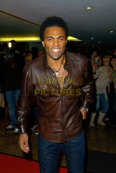 RAY FEARON.Screen Nation Film & Television Awards 2007, Hilton London Metropole, London, England, October 15th 2007. half length brown shirt.CAP/CAN.©Can Nguyen/Capital Pictures
