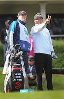 160213 Veteran Caddie Scott Martin with Jason Bohn during Saturday's Third Round of The AT&T National Pro Am at The Spyglass Hill Golf Club in Carmel, California. (photo credit : kenneth e. dennis/kendennisphoto.com)