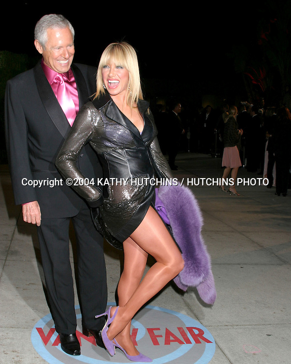 ©2004 KATHY HUTCHINS /HUTCHINS PHOTO.VANITY FAIR OSCAR PARTY.MORTONS RESTAURANT.WEST HOLLYWOOD, CA .FEBRUARY 29, 2004 ..SUZANNE SOMERS.HUSBAND