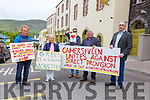 Pictured at the march in Cahersiveen on Thursday to highlight the plight of the residents at the centre were l-r; Corman Dineen, Cllr Norma Moriarty, Gavan Billingham, Christy O'Connell & Cllr Michael Cahill.