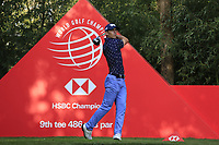 Billy Horschel (USA) on the 9th tee during round 1 at the WGC HSBC Champions, Sheshan Golf Club, Shanghai, China. 31/10/2019.<br /> Picture Fran Caffrey / Golffile.ie<br /> <br /> All photo usage must carry mandatory copyright credit (© Golffile | Fran Caffrey)