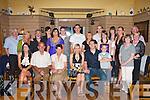 ENGAGEMENT: Kara Walsh and Kieran O'Flaherty, Lixnaw enjoying their Engagement Party at Stokers Lodge bar and resturant on Saturday seated l-r: Linda O'Brien, Tom and Ann O'Flaherty, Kara Walsh, Kieran O'Flaherty and Dale Healy O'Flaherty. Back l-r: John Walsh, Marie Baker, Sean Mulcahy, Sarah and Eva O'Brien, Luke Walsh, Bernard O'Flaherty, Fiona Walsh, Enda O'Flaherty, Saibhh Lawlor, Ailish McGillycuddy, Yvonne O'Flaherty, Rose Burke and Micheal and Ursula Griffin..   Copyright Kerry's Eye 2008