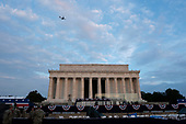 """The Lincoln Memorial in Washington D.C., where later in the day United States President Donald J. President Donald J. President Donald J. Trump will deliver remarks at his """"Salute to America"""" during an Independence Day celebration on July 4, 2019.<br /> Credit: Stefani Reynolds / CNP"""