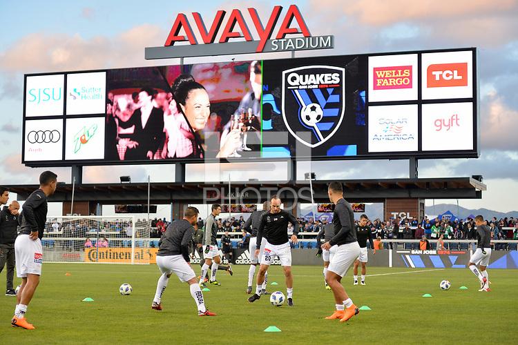 San Jose, CA - Saturday March 24, 2018: Landon Donovan during an international friendly between the San Jose Earthquakes and Club Leon FC at Avaya Stadium.