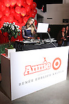 DJ Harley Viera-Newton spins tracks at the Annie For Target collection celebration and pop-up shop at Stage 37 in New York City on November 4, 2014.