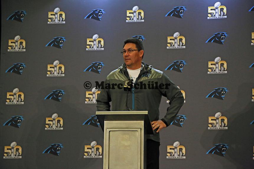 Head Coach Ron Rivera  (Panthers) - Super Bowl 50 Carolina Panthers PK, Convention Center San Jose