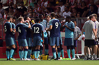 Pause in the second half for a water break during Girona FC vs Tottenham Hotspur, Friendly Match Football at Estadi Montilivi on 4th August 2018