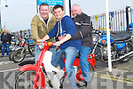 SPIN: Joe Quirke, Barry and Denis O'Mahony Tralee getting ready to go for a test spin at the Blennerville Treshing Fair on Sunday.