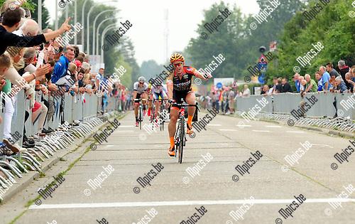2014-07-21 / Wielrennen / seizoen 2014 / Schaal Indekeu / 2014-07-21 / Wielrennen / seizoen 2014 / Schaal Indekeu  / Kevin Peeters won<br /><br />Foto: mpics.be