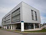 Modern architecture at Tremough campus, University of Falmouth, Penryn, Cornwall, England, UK
