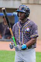 Quad Cities River Bandits outfielder Daz Cameron (16) steps to the plate during a Midwest League game against the Beloit Snappers on June 18, 2017 at Pohlman Field in Beloit, Wisconsin.  Quad Cities defeated Beloit 5-3. (Brad Krause/Four Seam Images)