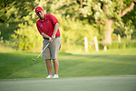 SUGAR GROVE, IL - MAY 29: Braden Thornberry of Ole Miss chips onto the 18th green during the Division I Men's Golf Individual Championship held at Rich Harvest Farms on May 29, 2017 in Sugar Grove, Illinois. Thornberry won the individual national title with a -11 score. (Photo by Jamie Schwaberow/NCAA Photos via Getty Images)