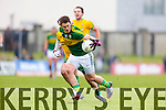 Stephen O'Brien Kerry in action against Karl Lacey Donegal in Division One of the National Football League at Austin Stack Park Tralee on Sunday.