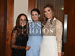 Carla Daly, Sara Morris and Megan Dunne at the St. Colmcilles gala ball in City North hotel. Photo:Colin Bell/pressphotos.ie