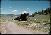 Coaling trestle at Sargent.<br /> D&amp;RGW  Sargent, CO