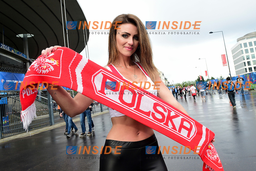 Poland Fan Tifosa Polonia <br /> Paris 16-06-2016 Stade de France Football Euro2016 Germany - Poland / Germania - Polonia Group Stage Group C. Foto JB Autissier / Panoramic / Insidefoto
