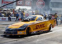 Sep 18, 2016; Concord, NC, USA; NHRA funny car driver Del Worsham during the Carolina Nationals at zMax Dragway. Mandatory Credit: Mark J. Rebilas-USA TODAY Sports