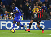 2nd February 2019, Cardiff City Stadium, Cardiff, Wales; EPL Premier League football, Cardiff City versus AFC Bournemouth; Oumar Niasse of Cardiff City passes the ball into the box as Ake challenges