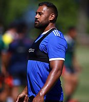 DURBAN, SOUTH AFRICA -Monday February 18th: Patrick Tuipulotu (captain) of the Blues during the Blues Training at Northwood School Durban North, on February 18th, 2019 in Durban, South Africa. Photo by Steve Haag / stevehaagsports.com