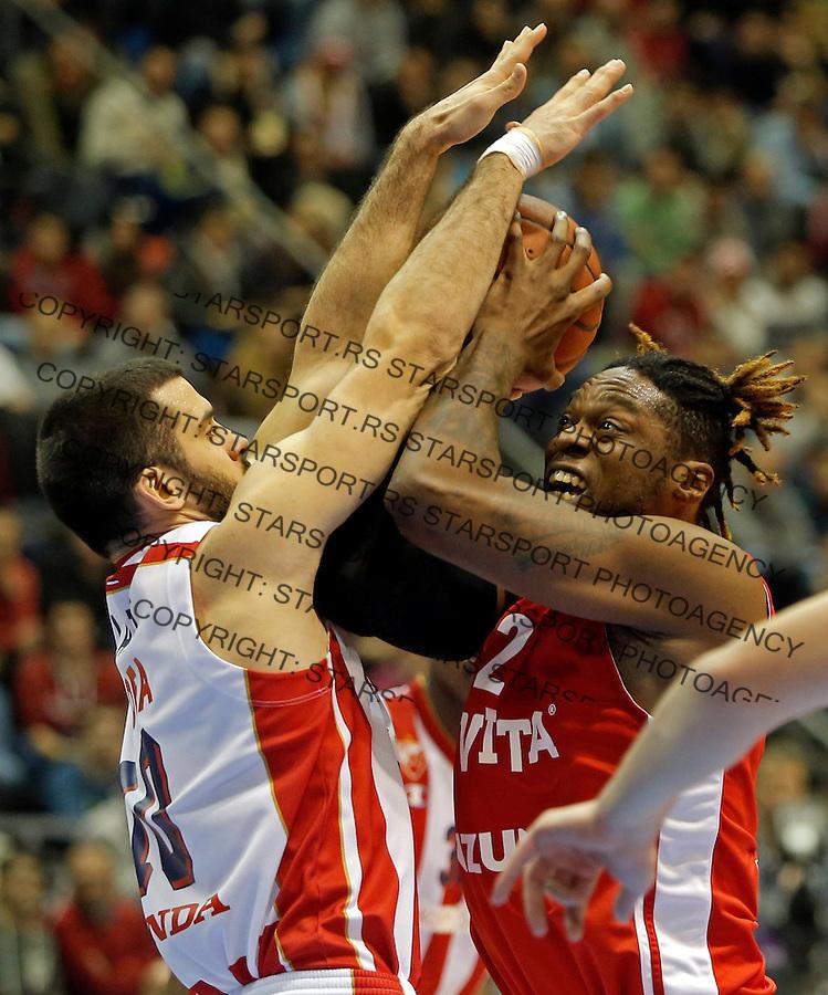 Branko Lazic (L) i Henry Walker (D)  Crvena Zvezda - Cedevita kosarka ABA regionalna liga 4.1.1016. Januar 4. 2016. (credit image & photo: Pedja Milosavljevic / STARSPORT)