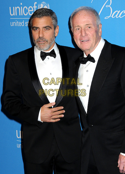 GEORGE CLOONEY & JERRY WEINTRAUB.UNICEF Ball 2009 Honoring Jerry Weintraub held at the Beverly Wilshire Hotel, Beverly Hills, California, USA..December 10th, 2009.half length tux tuxedo black white bow tie beard facial hair .CAP/ADM/BP.©Byron Purvis/AdMedia/Capital Pictures.