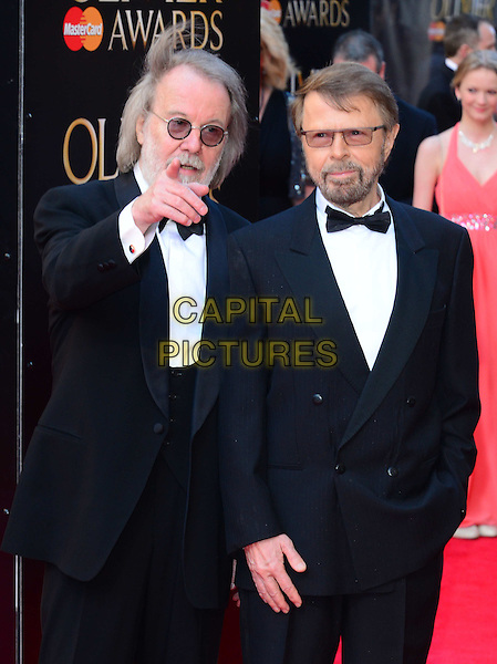 LONDON, ENGLAND - APRIL 13:  Benny Andersson; Bjorn Ulvaeus attends The Olivier Awards, the illustrious ceremony celebrating the very best in English theatre, at Royal Opera House, Covent Garden, on April 13, 2014, in London, England.<br /> CAP/JOR<br /> &copy;Nils Jorgensen/Capital Pictures