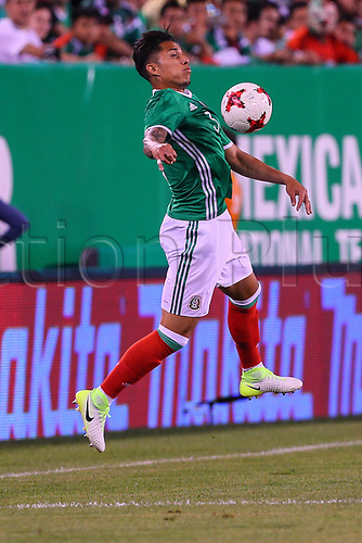 June 1st 2017, East Rutherford, NJ, USA; Mexico defender Carlos Salcedo (3) brings downa high ball during the game between Mexico and the Republic of Ireland on June 01, 2017 at Met Life Stadium in East Rutherford, NJ.