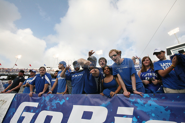 UK football fans get ready for the game against University of Florida .Photo by Adam Wolffbrandt | Staff