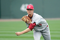 Pitcher Jack Wynkoop (13) of the South Carolina Gamecocks before a game against the Furman Paladins on Wednesday, April 3, 2013, at Fluor Field at the West End in Greenville, South Carolina. (Tom Priddy/Four Seam Images)