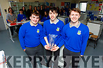Students Kevin Lenihan, Eamon Nolan and James McDonald from the Castleisland Community College received the National Garda Youth Achievement Award at the weekend.