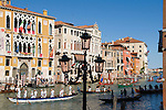 Grand Canal Venice Italy 2009. Regatta Regata Storica procession of boats down the Grand Canal annually first Sunday in September.