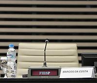 ATENÇÃO EDITOR: FOTO EMBARGADA PARA VEÍCULOS INTERNACIONAIS. - SAO PAULO, SP, 23 DE OUTUBRO 2012 - ENCONTRO NA FIESP COM CANDIDATOS À PRESIDÊNCIA DA ORDEM DOS ADVOGADOS-SP - Federação das Indústrias promove encontro com os candidatos à presidência da Ordem dos Advogados do Brasil (OAB), seção São Paulo. A finalidade é possibilitar que os quatro concorrente apresente suas propostas aos empresários e advogados de empresas associadas ao CIESP/FIESP o candidato da situação Marcos da Costa Não compareceu ao encontro. Nesta terça 23. (FOTO:  LEVY RIBEIRO / BRAZIL PHOTO PRESS).